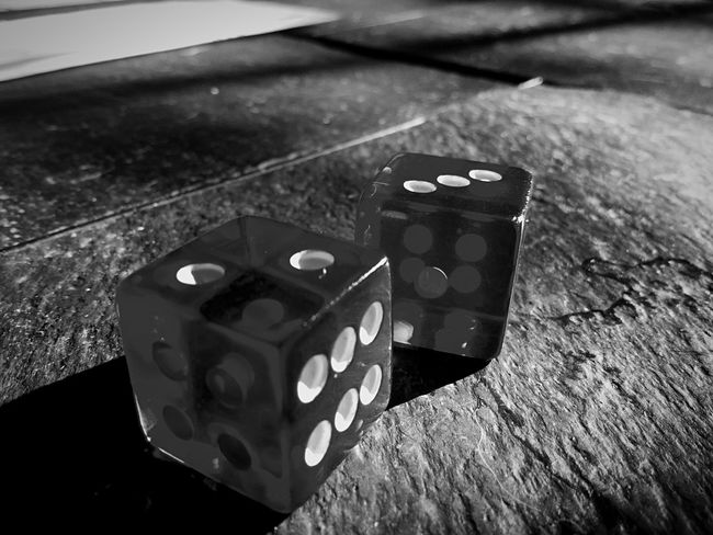 Monochrome Photography Dice Dots Numbers Cube Monochrome Blackandwhite Shadow Dark Pair Two