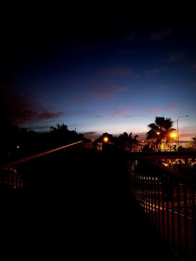 Sunset Streetlights Nightphotography Silhouette Orange