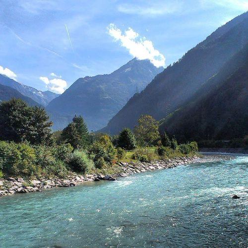 Switzerland Swiss Uri Erstfeld river sky nature mountains instagood follow швейцария эрстфельд река небо природа горы