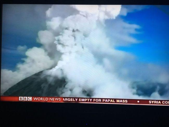 Smoke from volcano Volcano