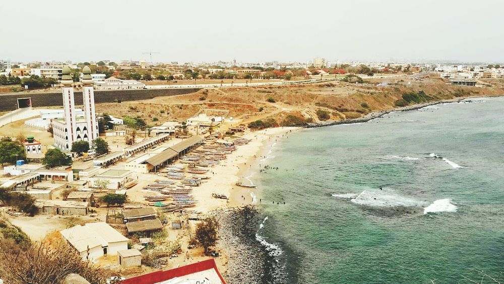 Senegal High Angle View Aerial View Social Issues Travel Destinations Environmental Conservation Outdoors Water Vacations Nature Architecture Day People Sky Landscape Nature Grass City Dakar