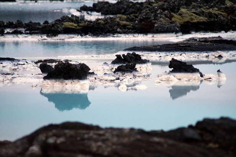 Beauty In Nature Blue Lagoon Iceland Landscape Rock Stone Stones Water Lava Rock Lava The KIOMI Collection