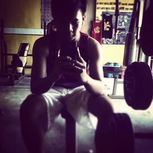 Don't stop til u feel crap haha babad mode.. Instagood Sundaze Gym ✊✊