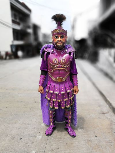 Morion Morionesfestival Marinduque Marinduque,Philippines Philippines City Full Length Portrait Arts Culture And Entertainment Purple Front View Multi Colored Traditional Clothing Holy Week Festival Traditional Festival HUAWEI Photo Award: After Dark