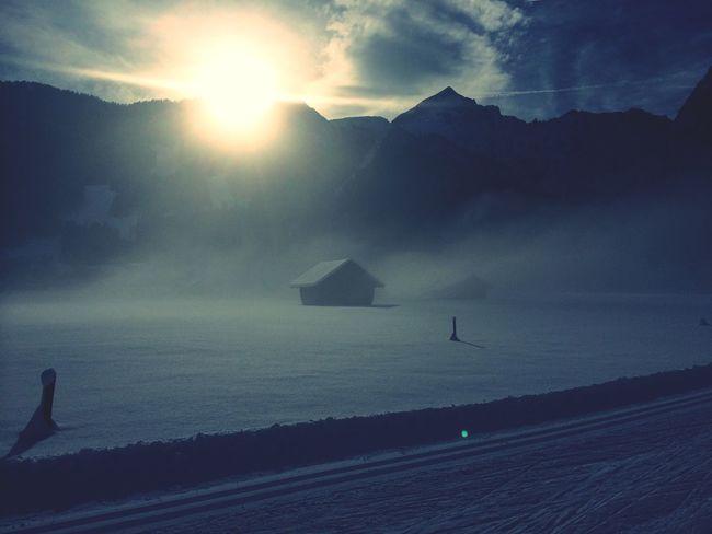 Goodmorning Sunrise Crosscountry Skiing Mountains
