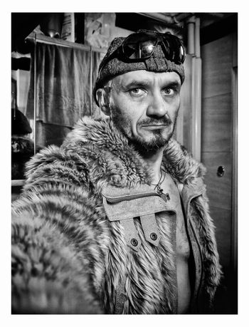 Piotr Adamczyk Photography Adult Auto Post Production Filter Clothing Coat Fur Fur Coat Leisure Activity Lifestyles Looking At Camera Men Mid Adult Mid Adult Men One Person Portrait Real People Transfer Print Warm Clothing Winter