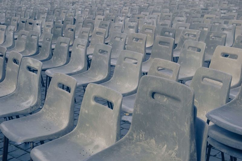 Full Frame Shot Of Chairs Outdoors