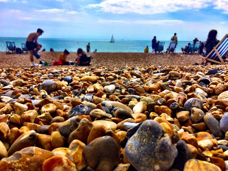 Beach Brighton Brightonbeach Brightonseafront British Britishholidays Happy Holiday Sea Sea And Sky Seaside Stone Stoneybeach Summer Sunshine Vacation Water First Eyeem Photo