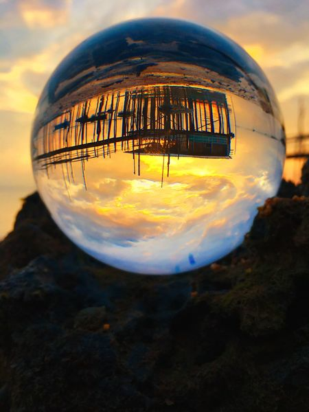 Sunrise with crystal ball Cloud - Sky Sky Outdoors Nature Sunset Reflection No People Landscape Close-up Beauty In Nature Scenics Day EyeEm Ready   EyeEmNewHere EyeEmNewHere