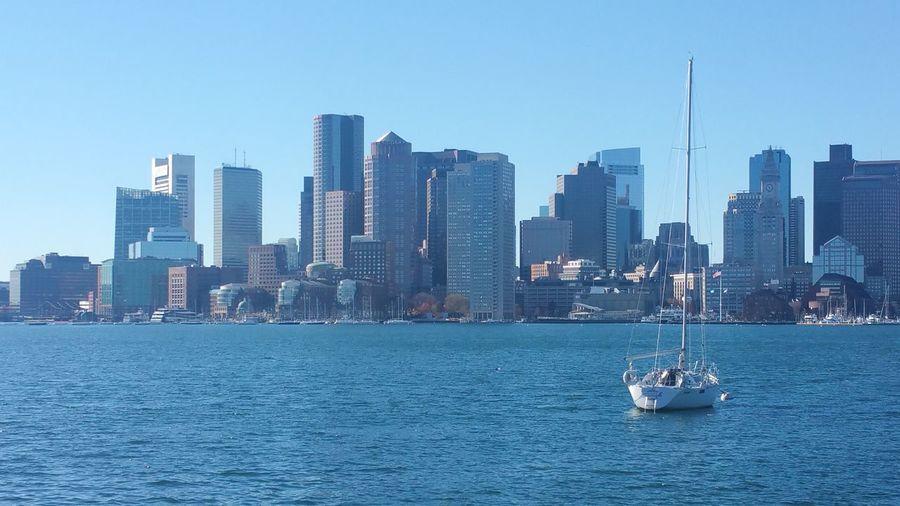 Boston Harbor EyeEm Selects City Sailing Ship Cityscape Urban Skyline Nautical Vessel Water Modern Sailing Skyscraper Sea Wake - Water Sailboat Financial District  EyeEmNewHere