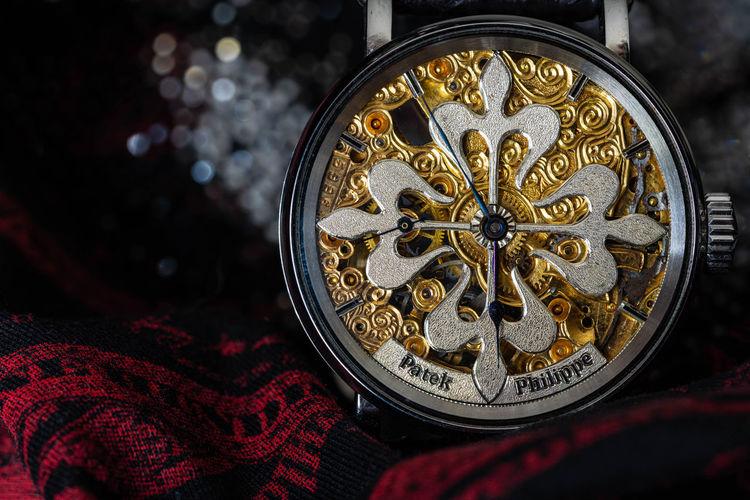 Close-up of ornate machine