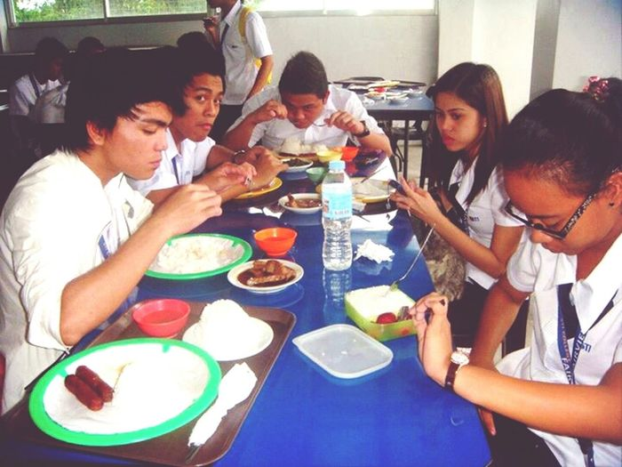 Eating In Canteen