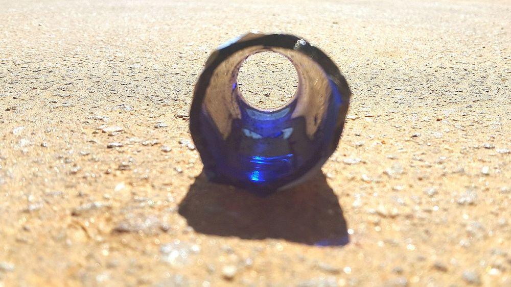 Shadow Day No People Close-up Bottle Broken Glass Glass - Material Blue Street Asphalt Street