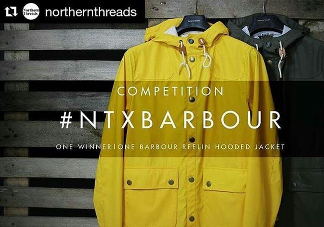 Don't miss out this competition @northernthreads They are giving one lucky Instagram user the chance to win ONE of our brand new @barbour Reelin Hooded Jackets from our latest SS16 collection in a colour of your choosing. To enter 1) regram this image 2)follow and tag @northernthreads 3) use NTXBARBOUR in the comment! The winner will be chosen AT RANDOM after the competition has ended at midnight on Wednesday 6th April! If you are entering from overseas, please be aware that you will have to pay shipping fee's. You can view our current collection of the Barbour Reelin Hooded Jacket on our website (link in our bio) Barbour Competition Win Designer  Menswear Fashion SS16 Jacket WIWT Ootd Regram CompetitionTime Winner