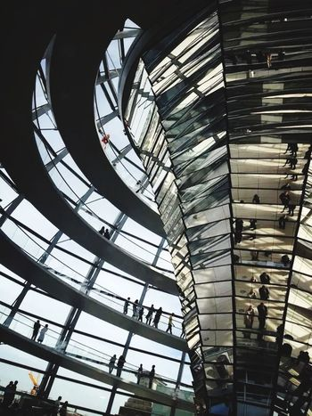 Amazing interior space in glass dome designed by roman Rohman Foster Architecture Design Urban Design Urban Space Hello World Urban Designer My Career EyeEm Best Shots - Architecture