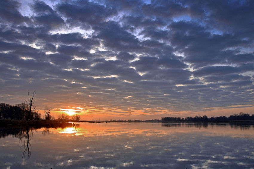 Sunrise with stratocumulus Cloud Reflections Clouds Dawn Morning Reflection Stratocumulus Water Reflections