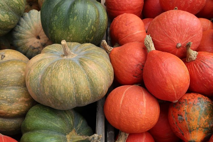 Halloween Kürbis Pumpkin Food And Drink Food Healthy Eating Freshness Wellbeing Market Vegetable Fruit For Sale Full Frame Abundance Market Stall High Angle View No People Pumpkin Retail  Large Group Of Objects Backgrounds Still Life Choice