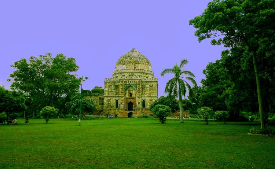 Humayun Tomb , in Lodhi Garden , New Delhi Green Color Travel Destinations Architecture Built Structure Tree Outdoors Beauty In Nature No People Day Photographing Nature Mobilephotography Beauty In Nature Sky Travel India Architecture Tree Vacations DelhiDairies Sculpture Historical Building Ancient