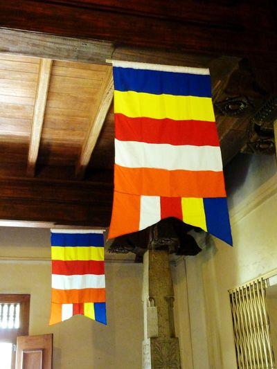 Multi Colored Symbolism No People Sri Lanka Toothtemple Buddhist Temple Buddhist Flag