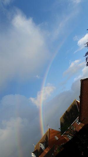 Rainbow Colour Multicolour Sky Sky And Clouds Blue Sky