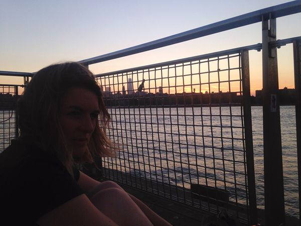 Chilling Sunset NYC Cherrie