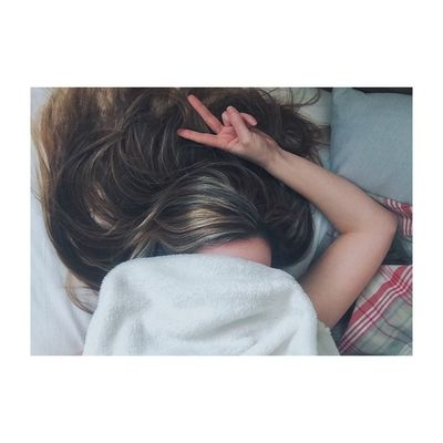 Lazy days. Bed Lazy Hair Peace Comfy  Girl