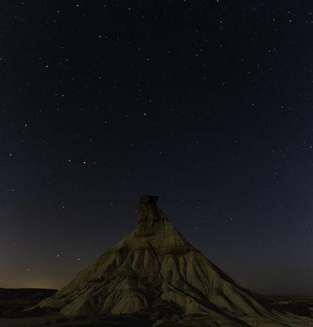 Castill de tierra, Bardenas reales, Navarra Bardenas Reales Astronomy Beauty In Nature Castill De Tierra Nature Night No People Outdoors Scenics Sky Star - Space Tranquil Scene Tranquility