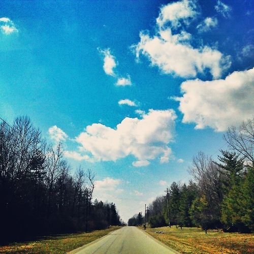 Running Wide. Country Road Solace Aimlessdriving peace picuremysky clouds colors