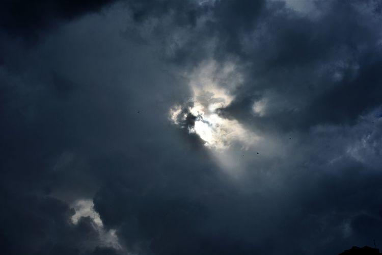 Midday sun on