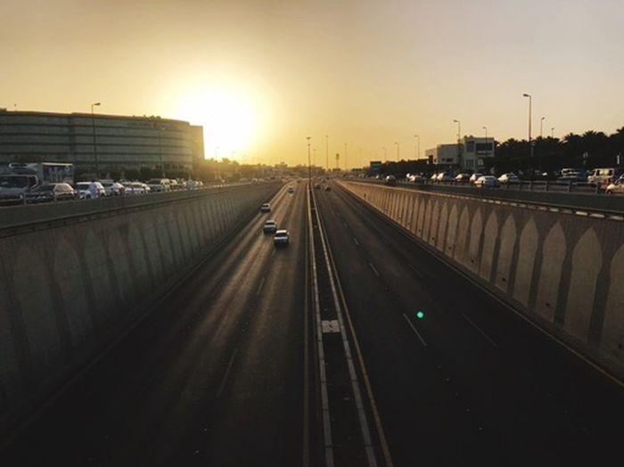 Road Sky Transportation Sunset Architecture Built Structure Mode Of Transportation City Street Land Vehicle Highway Bridge