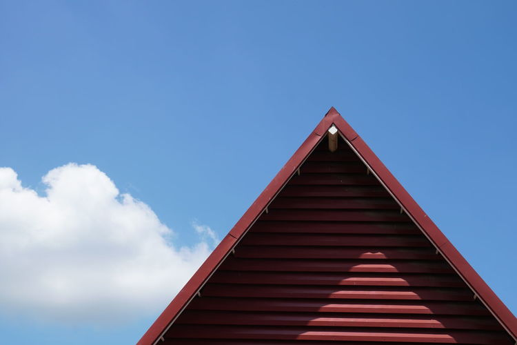 Architecture Blue Built Structure Day Low Angle View No People Outdoors Sky Triangle Shape