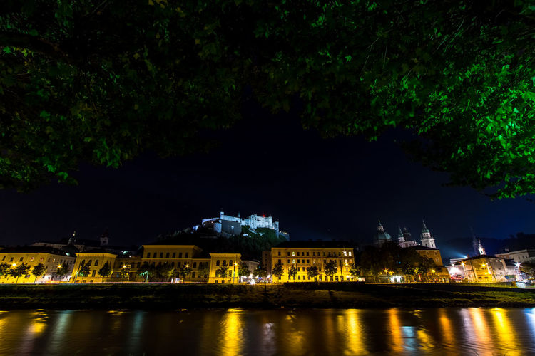 City By Night Old Town Old Town Square River Salzach Salzachufer Salzburg Salzburg By Night Salzburg, Austria
