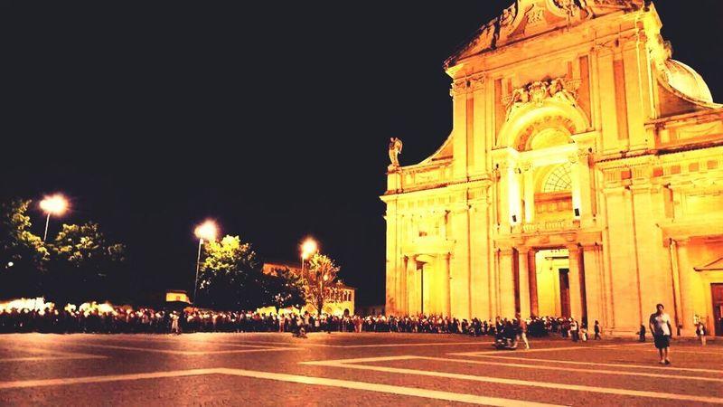 EyeEmNewHere SantaMariadegliAngeli Assisi, Italy Devotee Mision  Travel Night First Eyeem Photo