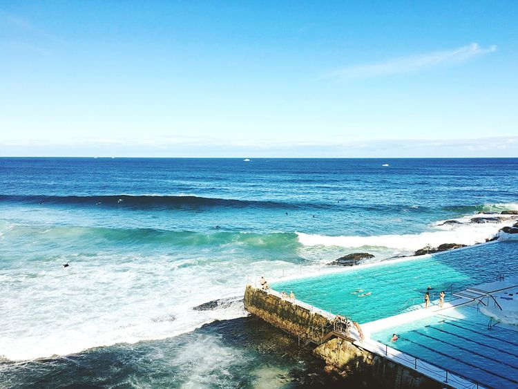 Bondi beach heaven Sea Horizon Over Water Tranquil Scene Tranquility Beach Surf Tourism Travel Destinations Bondi Iceberg People And Places