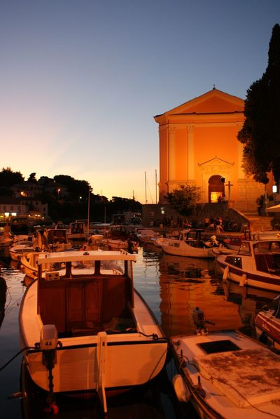 Water Veli Lošinj Nature No People Outdoors Sunset Church Croatia