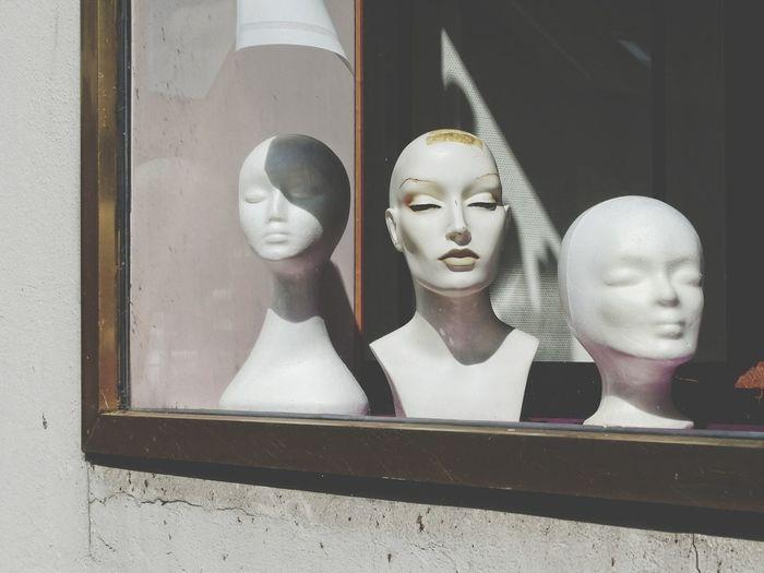 Human Representation Female Likeness Store Mannequin Retail Display Store Window Retail  Close-up Day EyeEm Taking Photos Myhometown Leer (Ostfriesland) Urban Exploration EyeemTeam Shadow Architecture Window