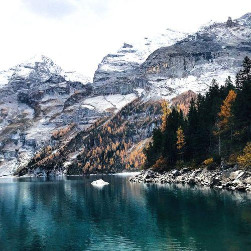🍂🍁 Switzerland Öschinensee Kandersteg  Mountain Nature Beauty In Nature Landscape Nature_collection Amazing Nature Amazingswitzerland Amazing_captures Alps Switzerland Swissalps Visitswitzerland