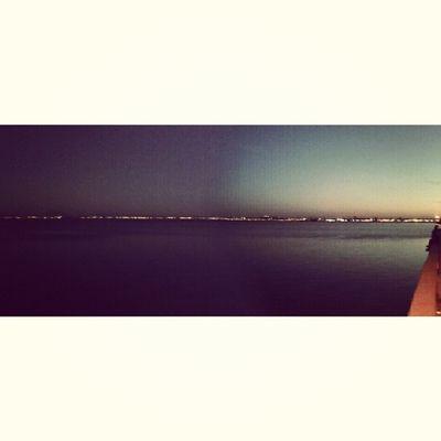 Idreamoftunisia InstagramTunisie Instagramtn Panorama view sunset sky lights night Lac Tunis