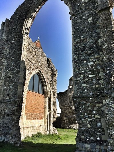 Leiston Abbey, the old and the new Arch Architecture History Built Structure The Past Day Old Ruin Ancient Building Exterior Sunlight Ancient Civilization Castle No People Travel Destinations Outdoors Clear Sky Sky