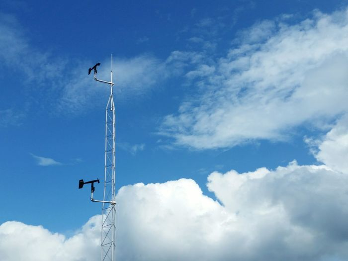 EyeEm Selects Sassafras Mountain Lookout South Carolina Cloud - Sky Low Angle View Day Sky Outdoors Technology No People Weather Station Against The Sky Weather Vane Tower The EyeEm Collection