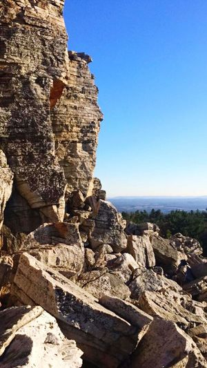 """"""" One With Mother Nature"""" Clear Sky Outdoors Scenics Newyork Labyrinth Trails LemonSqueeze Rock Formation RockClimbing"""