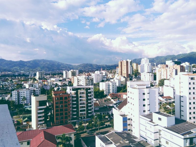 Architecture Building Exterior Built Structure City City Life Cityscape Cloud Cloud - Sky Colombia Community Day Elevated View Human Settlement Modern Mountain Range No People Outdoors Pereira Residential Building Residential District Residential Structure Risaralda Sky Tall - High TOWNSCAPE