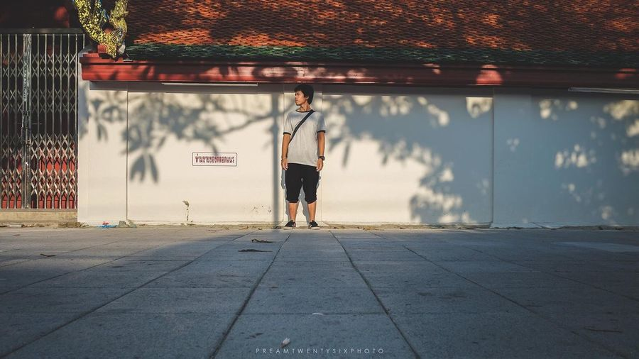 นครศรีธรรมราช Portrait Fujifilm 18mm Lifestyles Real People Full Length Rear View Leisure Activity Outdoors Healthy Lifestyle Holding Sunset One Person Young Adult Men City Day Sky Adults Only People Adult