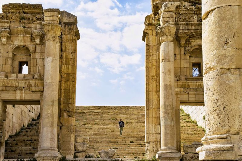 Jerash Jordan Old Ruin History Ancient Archaeology Built Structure Architecture Ancient Civilization Travel Destinations The Past Tourism Travel Old Sky Architectural Column Cloud - Sky Bad Condition Arch Monument Damaged EyeEmBestPics EyeEm Best Shots EyeEmNewHere Done That.