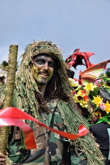 Jack In The Green Festival Jack In The Green May Day 2017 Hastings May Day East Sussex Outdoors Day Traditional Clothing The Green Man Carnival - Celebration Event One Person Smiling Happiness Green Man Pagan Pagan Festival Green Color Live For The Story Green Focus On Foreground Traditional Festival Headwear Portrait Standing