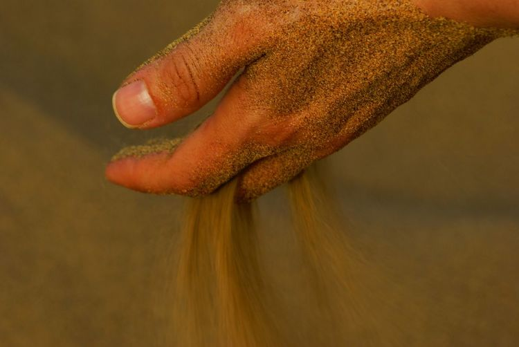 Human Body Part People Day Close-up Sand Relaxation EyeEm Masterclass Tranquility Hand Fingers