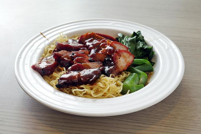 Char Siew Close-up First Eyeem Photo Food Food And Drink Hawkerfood Indoors  Indulgence Meal Meat Noodle Plate Ready-to-eat Sgfood Table