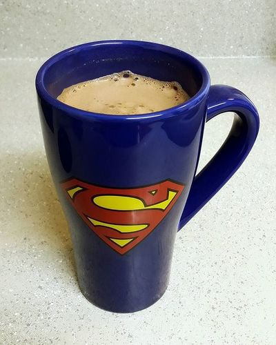 Warming myself up with some hot cocoa in my dad's Superman coffee cup. Swissmiss Hotcocoatime Hotcocoa Swissmisshotcocoamix Swissmisshotcocoa Superman Supermanmemorabilia Supermancoffeecup MissingMyDad Thinkingofyoualways Pixlr Cellphonephotography Samsunggalaxynote3 Portorchardwashington