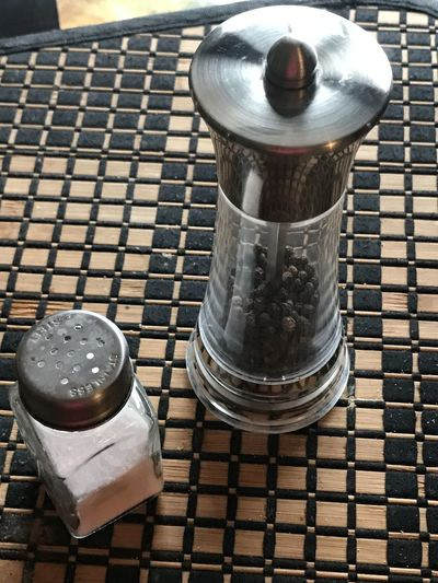 Day Food Food And Drink Kitchen Table Metal No People Outdoors Pepper Pepper Shaker Salt Salt And Pepper Salt Shacker Salt Shaker