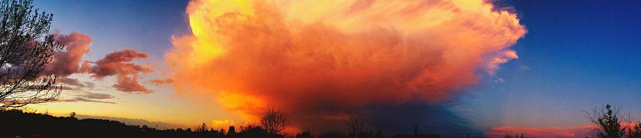 Panoramic Photography Panoramic TulsaSky Tornado Warning Springtime Orange Color Clouds And Sky EyeEm Nature Lover EyeEm Gallery EyeEm Best Shots - Nature Weather Photography Mother Nature Eyem Gallery Tornado Alley Oklahoma Weather Oklahoma Nature's Diversities